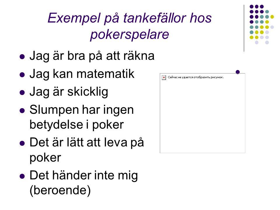 Exempel på tankefällor hos pokerspelare