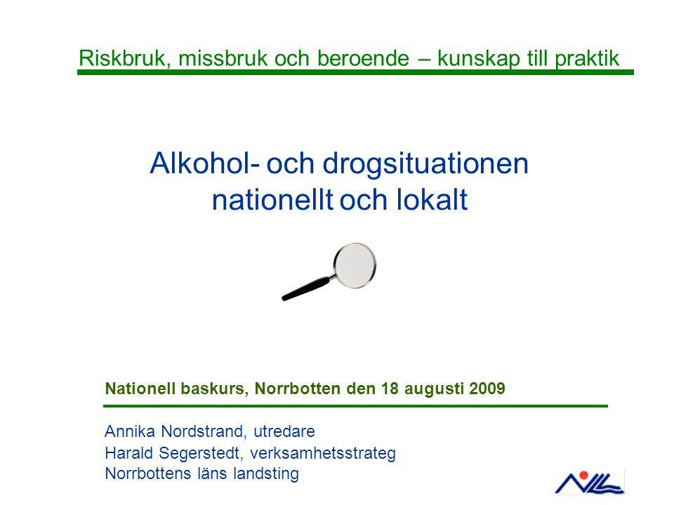 Alkohol- och drogsituationen
