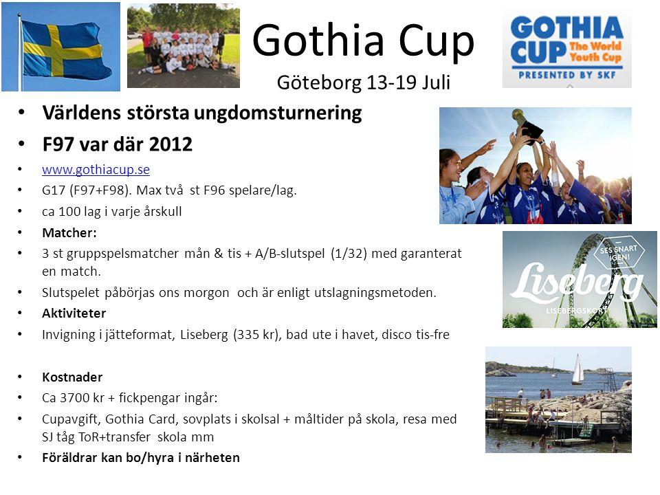 Gothia Cup Göteborg 13-19 Juli
