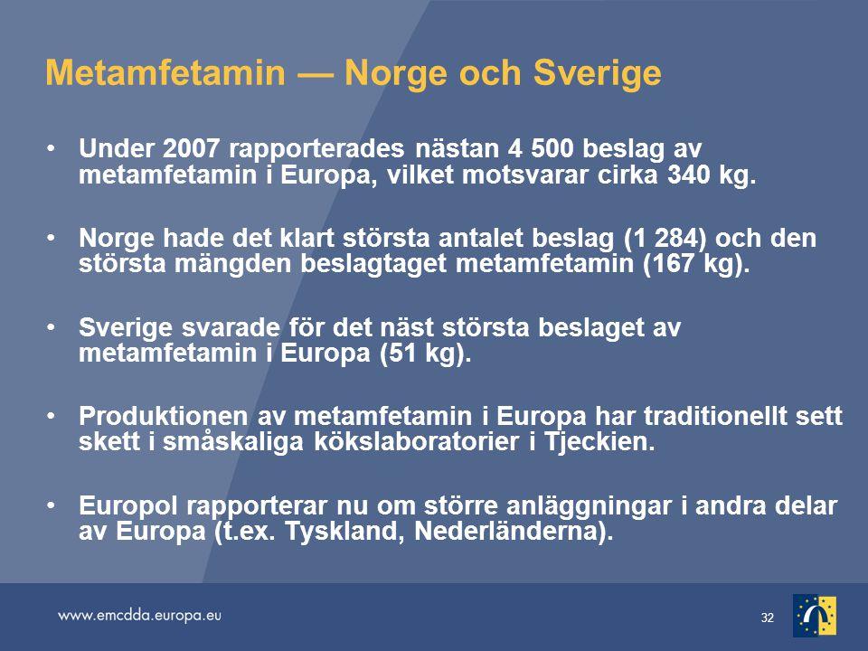 Metamfetamin — Norge och Sverige