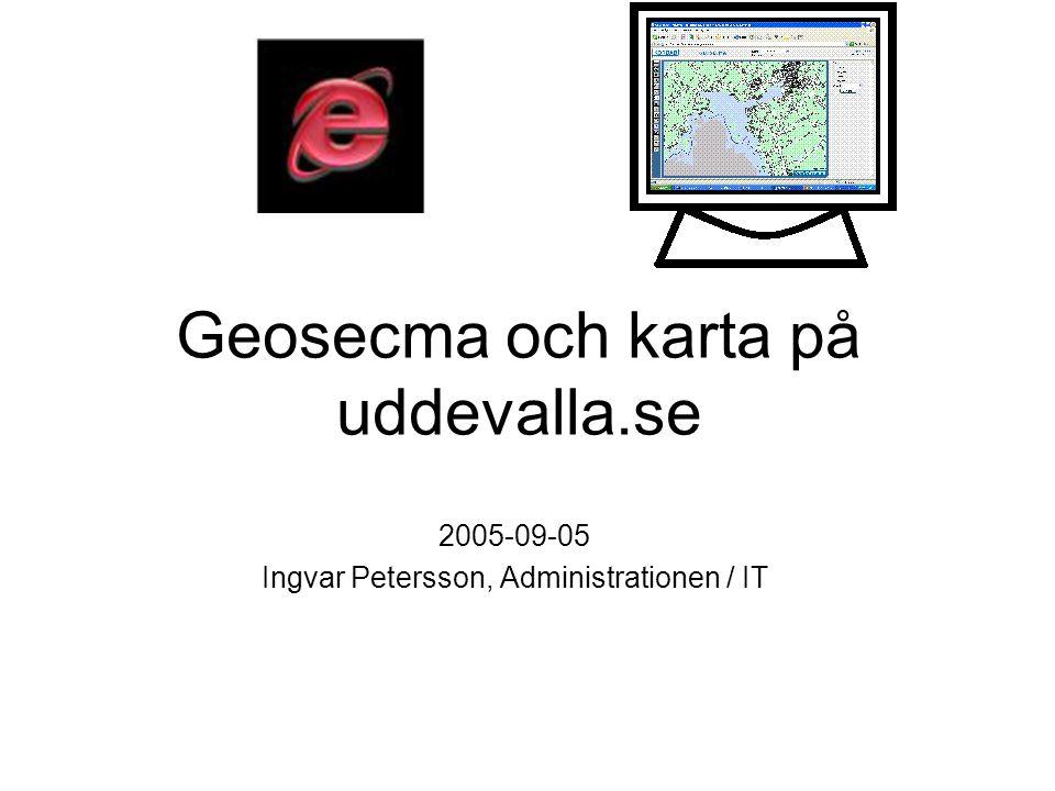 Geosecma och karta på uddevalla.se