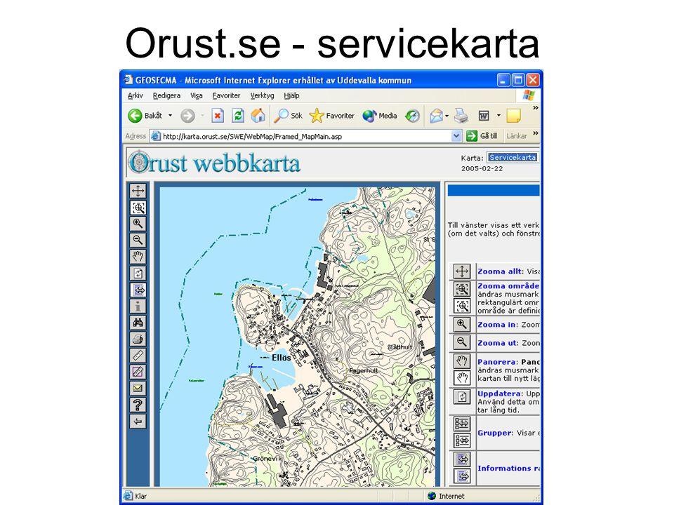Orust.se - servicekarta