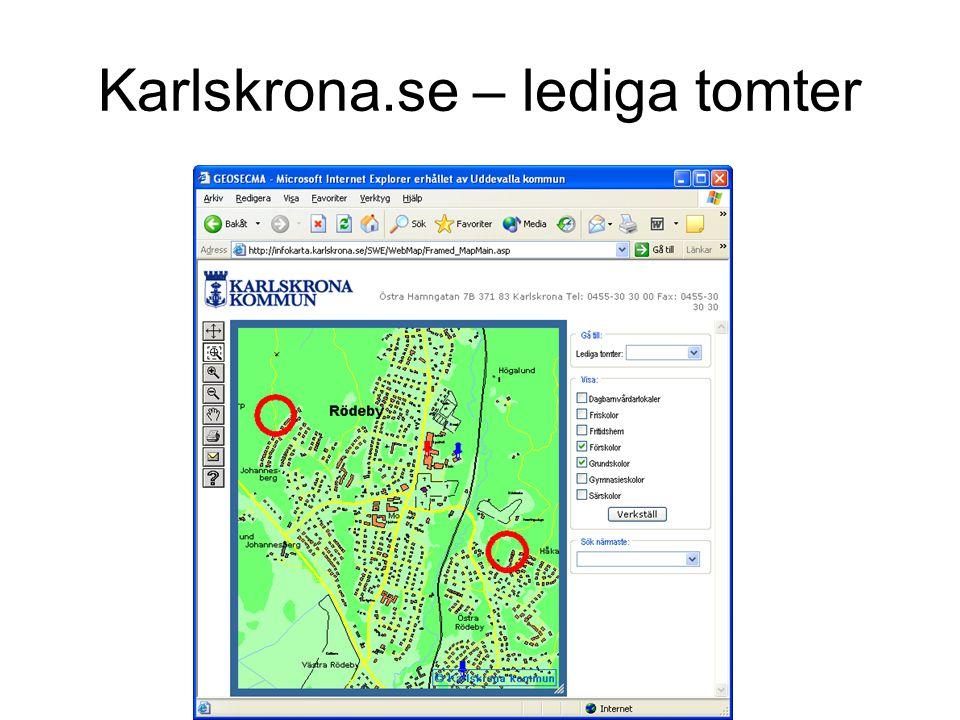Karlskrona.se – lediga tomter