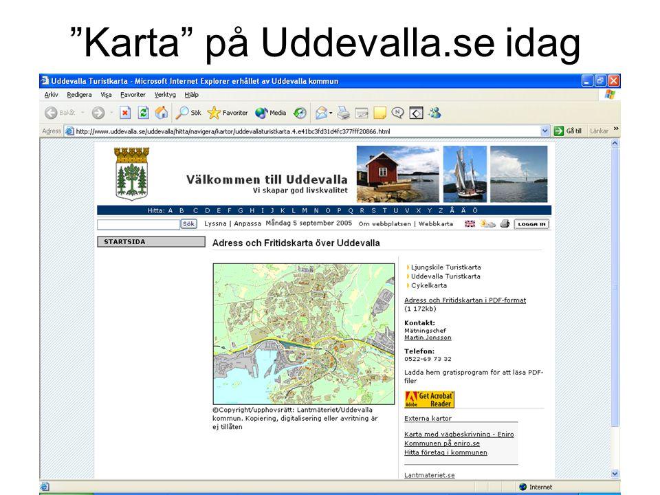 Karta på Uddevalla.se idag