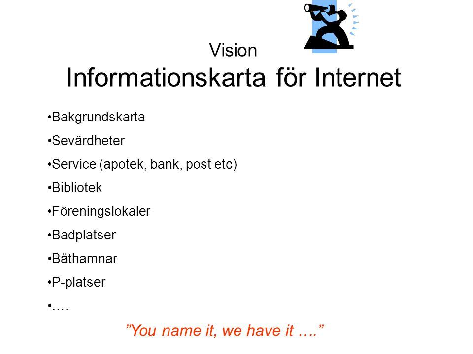 Vision Informationskarta för Internet