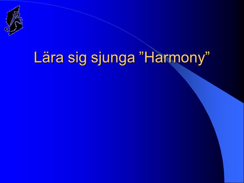Lära sig sjunga Harmony