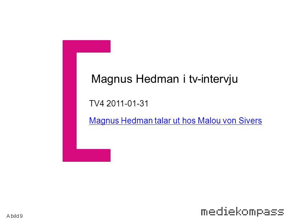 TV4 2011-01-31 Magnus Hedman talar ut hos Malou von Sivers