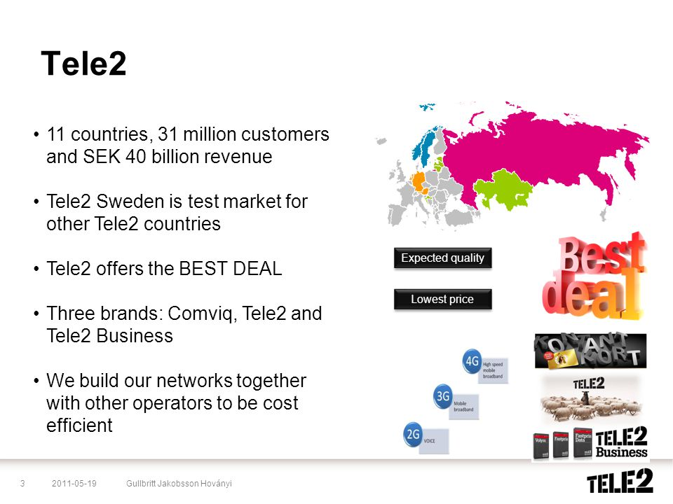 Tele2 11 countries, 31 million customers and SEK 40 billion revenue