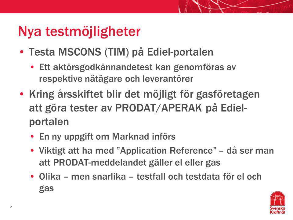 Nya testmöjligheter Testa MSCONS (TIM) på Ediel-portalen