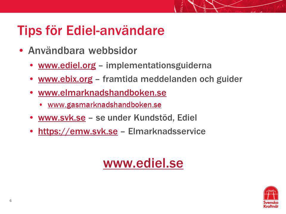 Tips för Ediel-användare