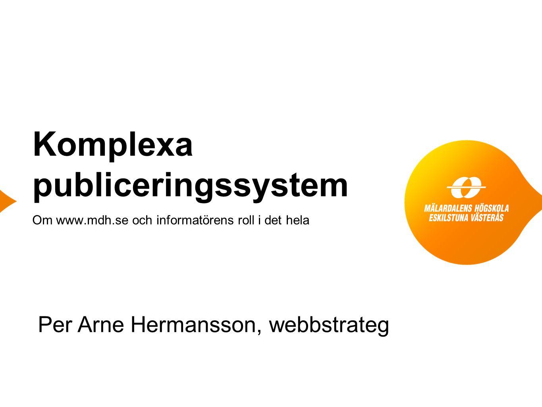 Komplexa publiceringssystem