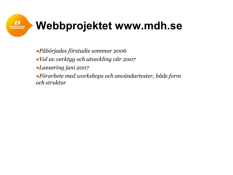 Webbprojektet www.mdh.se