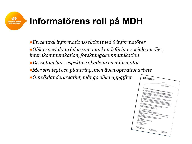 Informatörens roll på MDH