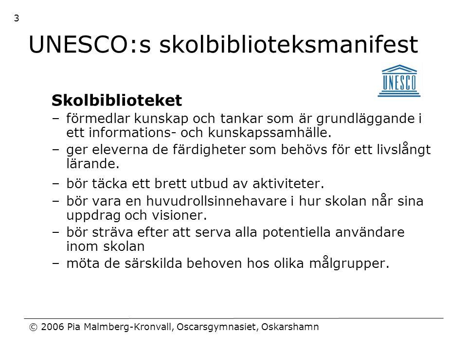 UNESCO:s skolbiblioteksmanifest