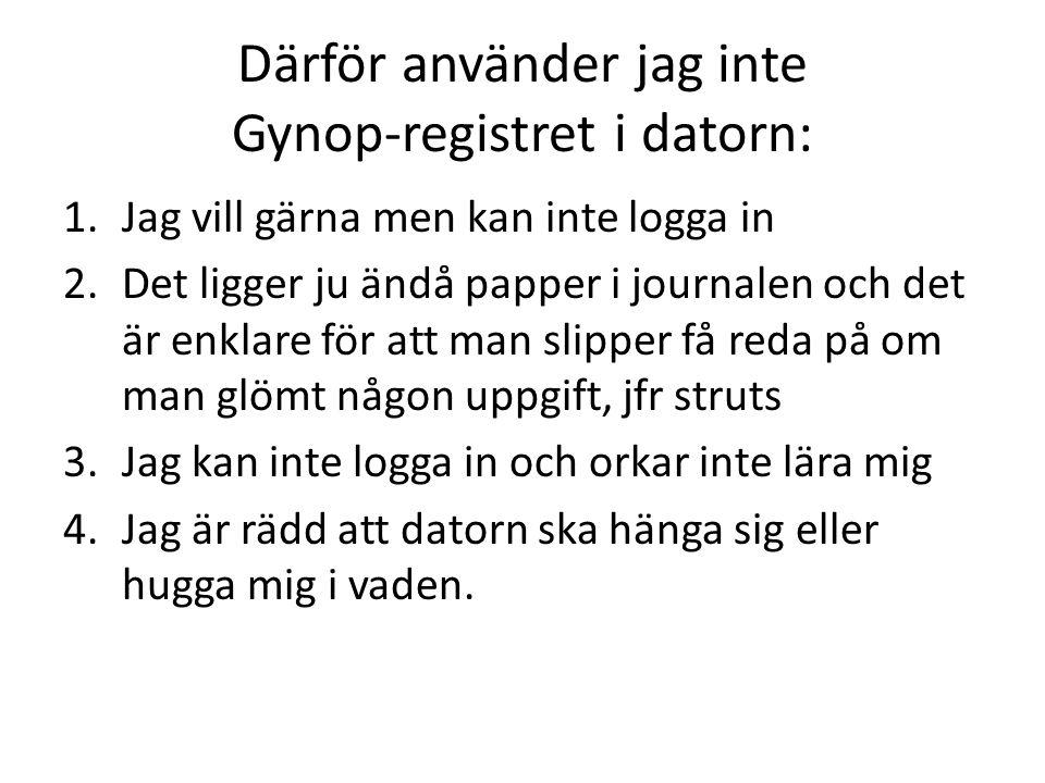 Därför använder jag inte Gynop-registret i datorn: