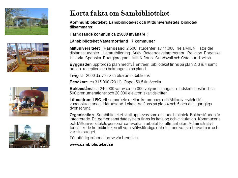 Korta fakta om Sambiblioteket