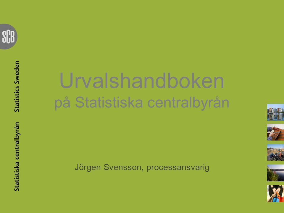 Urvalshandboken på Statistiska centralbyrån