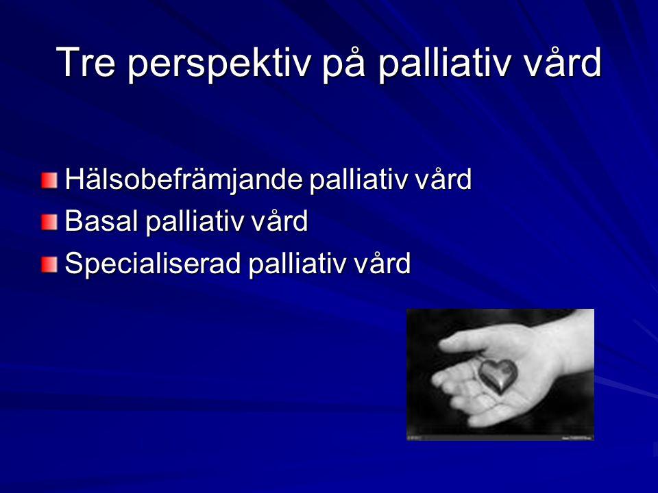 Tre perspektiv på palliativ vård