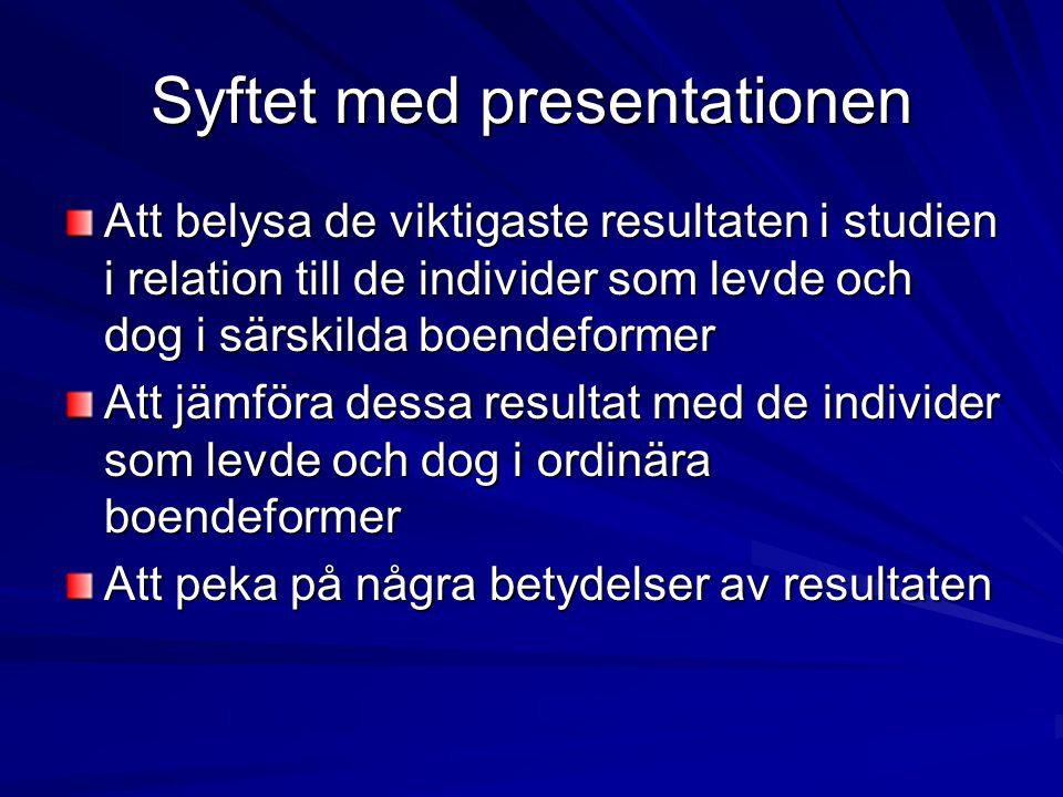 Syftet med presentationen