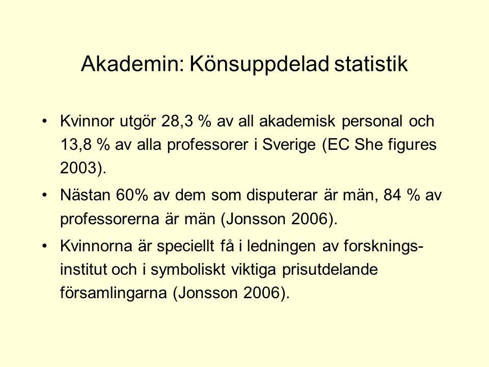 Akademin: Könsuppdelad statistik