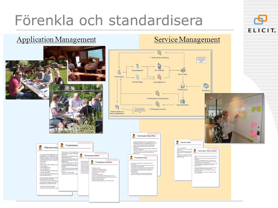Förenkla och standardisera