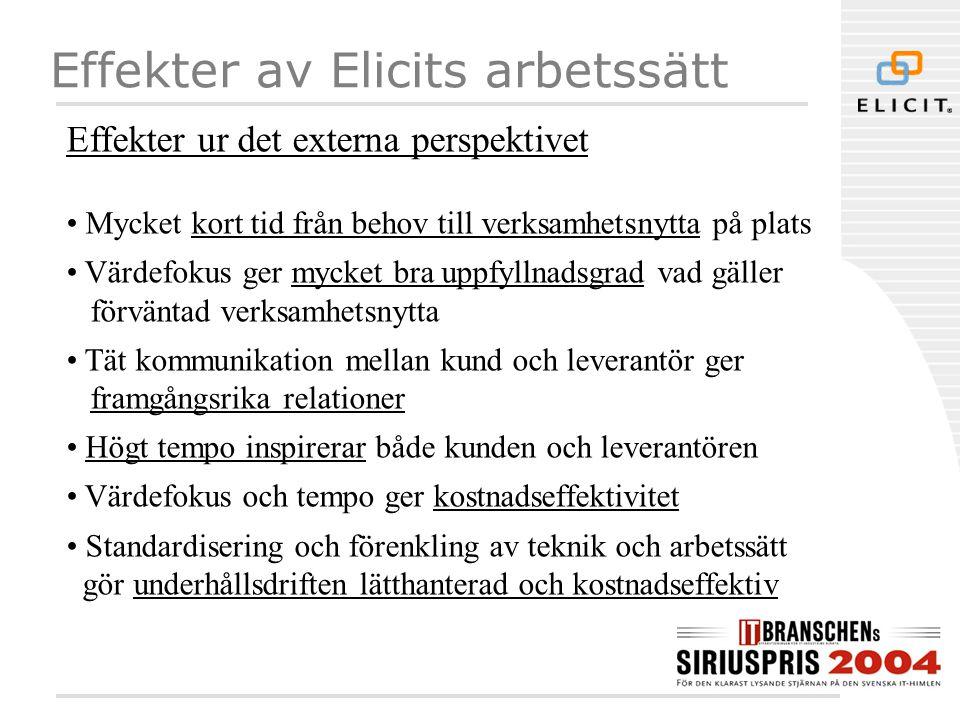 Effekter av Elicits arbetssätt
