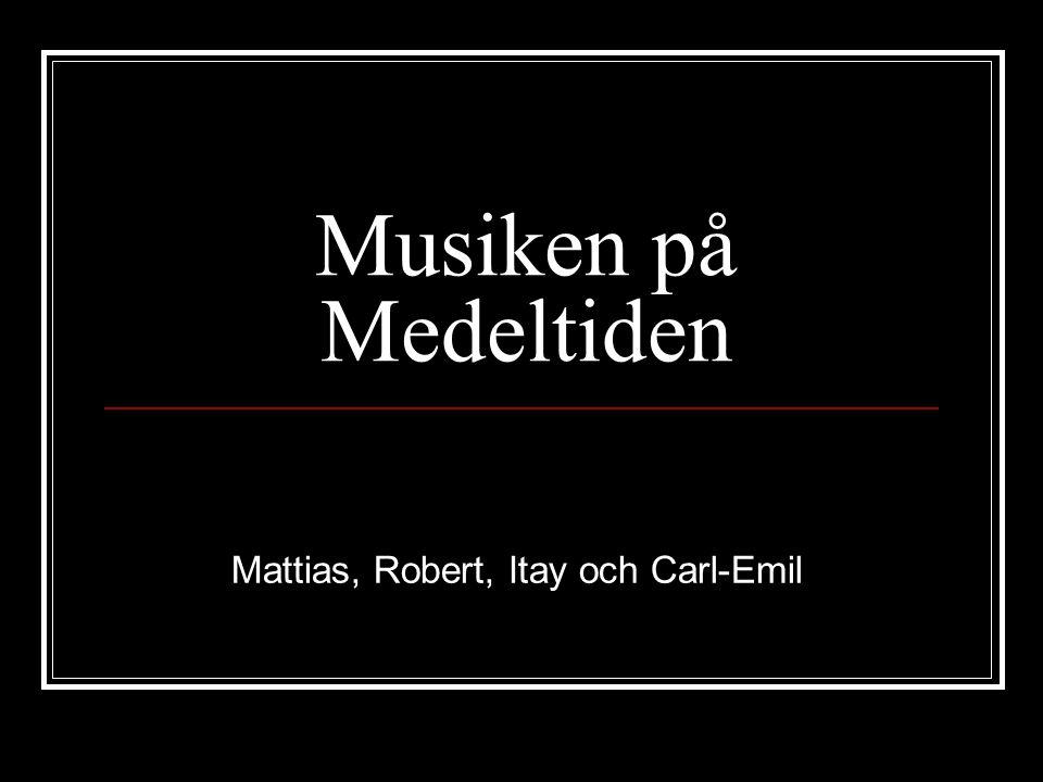 Mattias, Robert, Itay och Carl-Emil