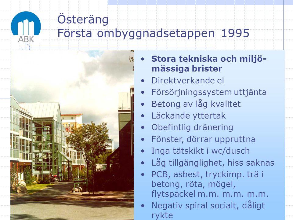 Österäng Första ombyggnadsetappen 1995