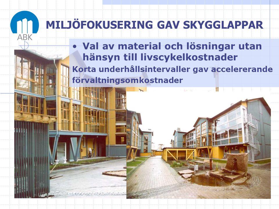 MILJÖFOKUSERING GAV SKYGGLAPPAR