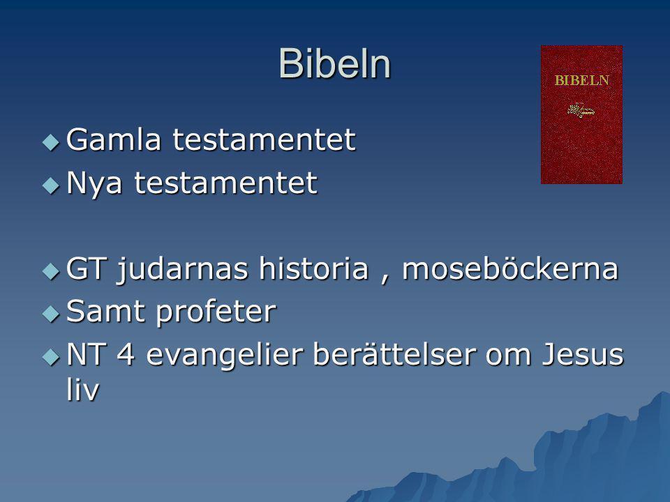 Bibeln Gamla testamentet Nya testamentet