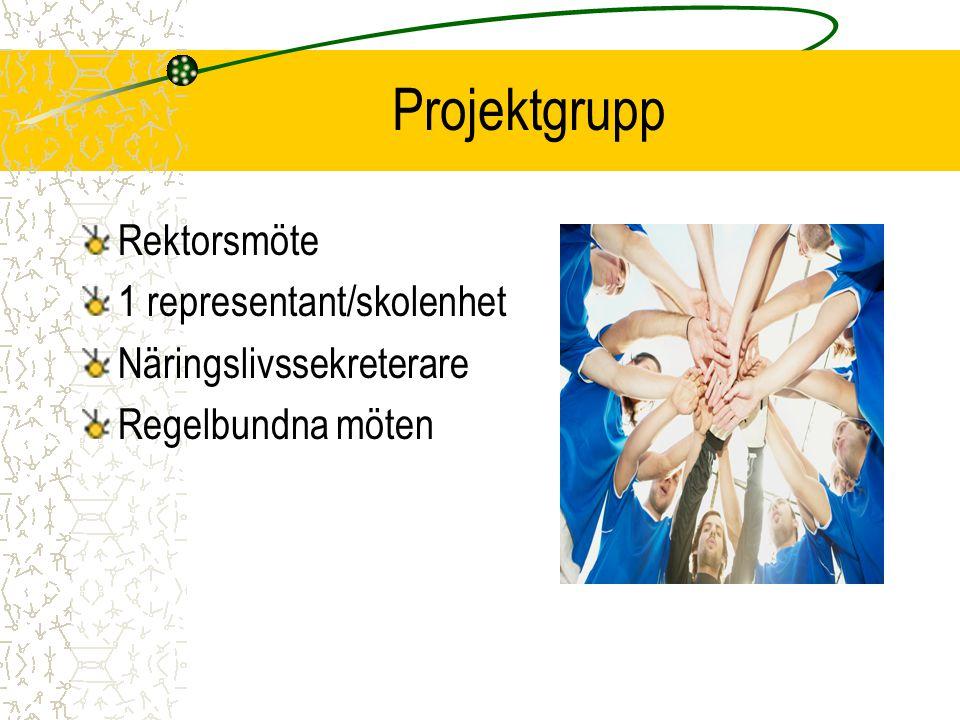 Projektgrupp Rektorsmöte 1 representant/skolenhet