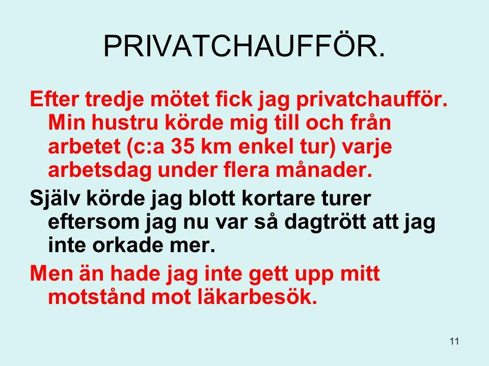 PRIVATCHAUFFÖR.