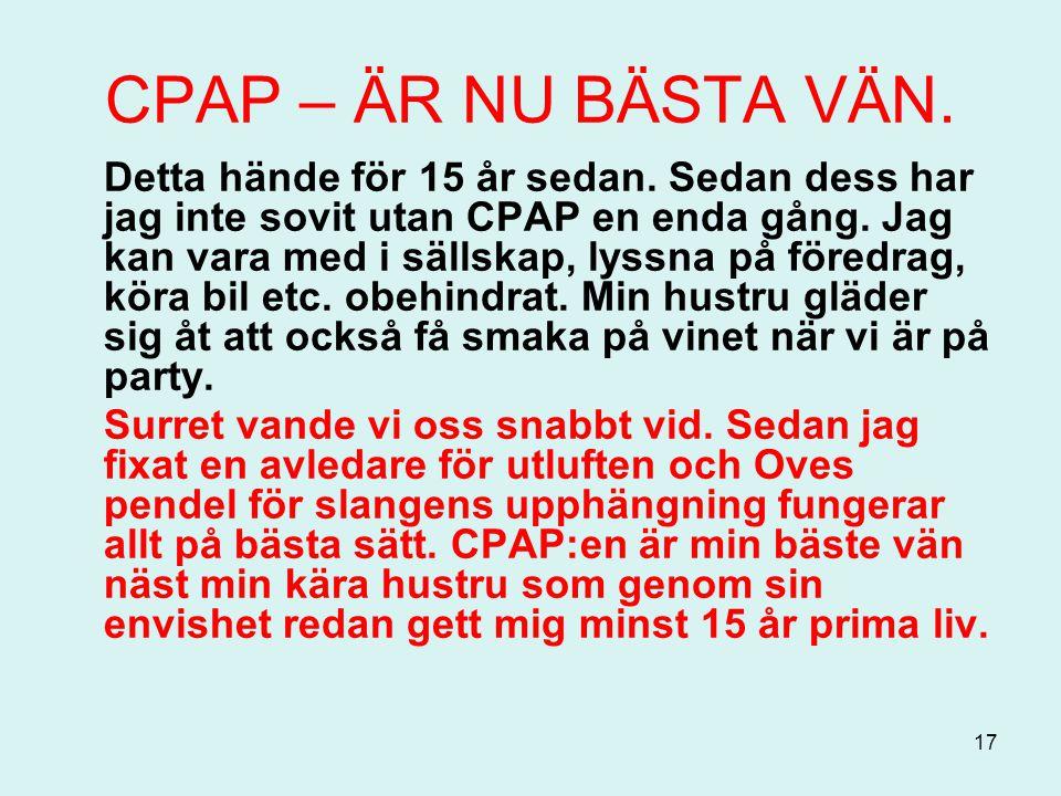CPAP – ÄR NU BÄSTA VÄN.