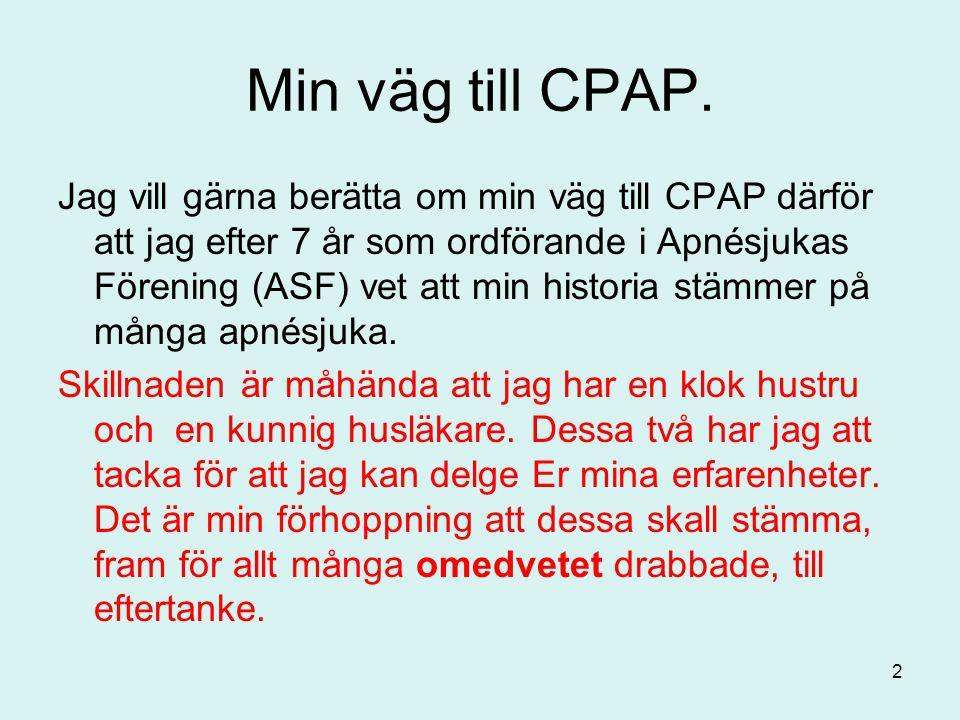 Min väg till CPAP.