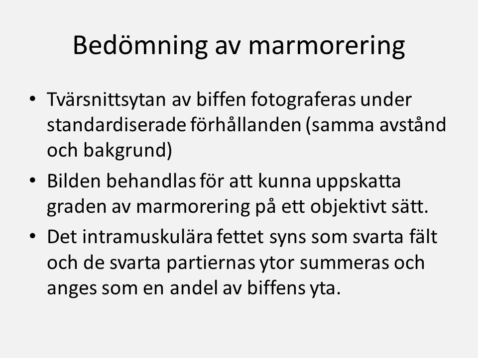 Bedömning av marmorering