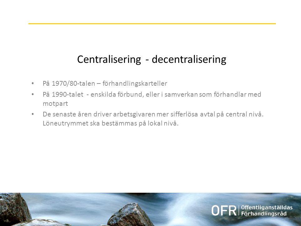 Centralisering - decentralisering