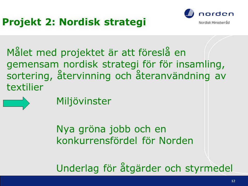 Projekt 2: Nordisk strategi