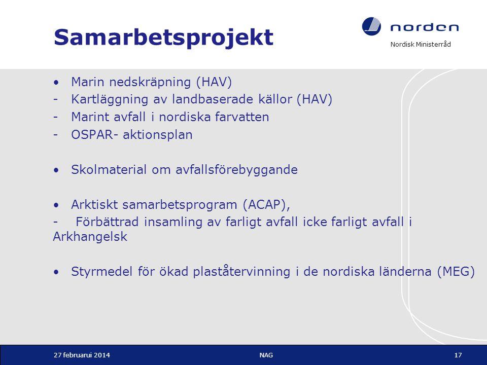 Samarbetsprojekt Marin nedskräpning (HAV)