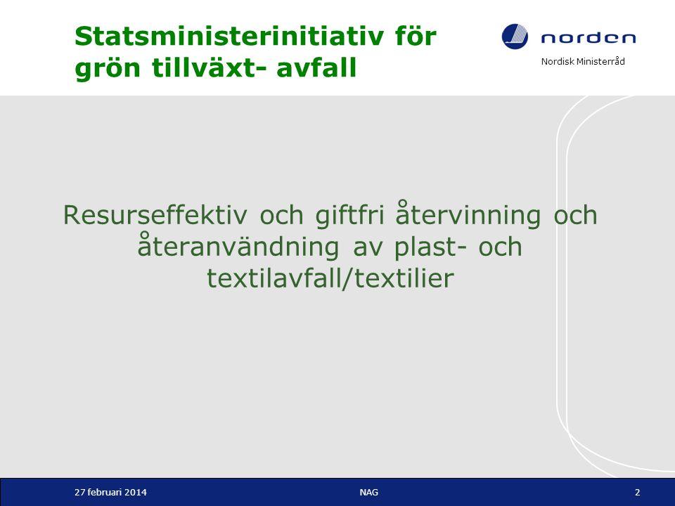 Statsministerinitiativ för grön tillväxt- avfall
