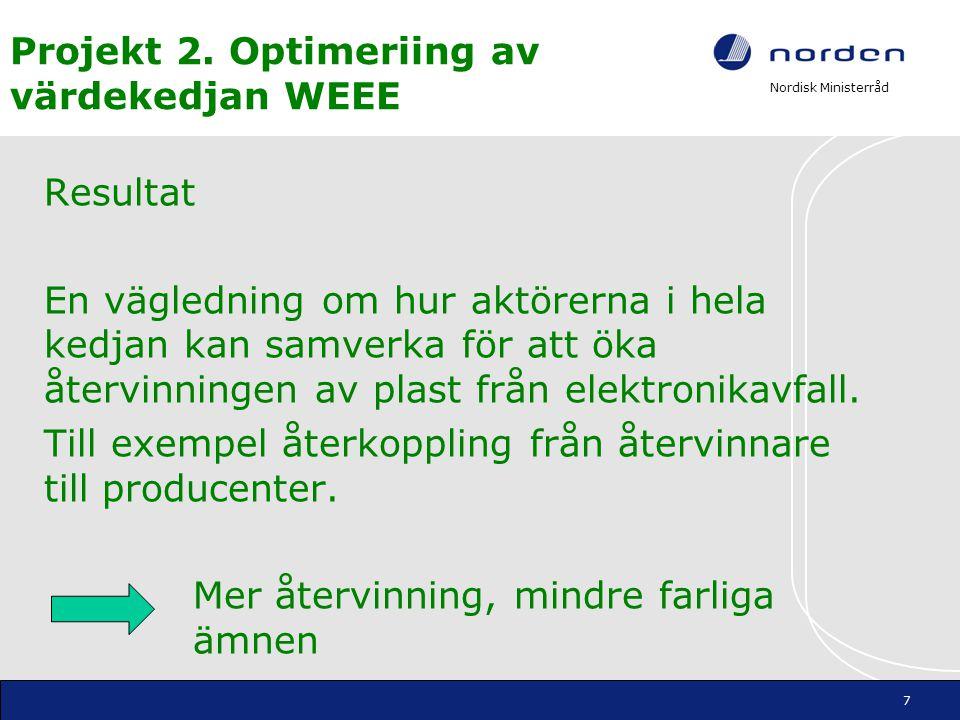 Projekt 2. Optimeriing av värdekedjan WEEE