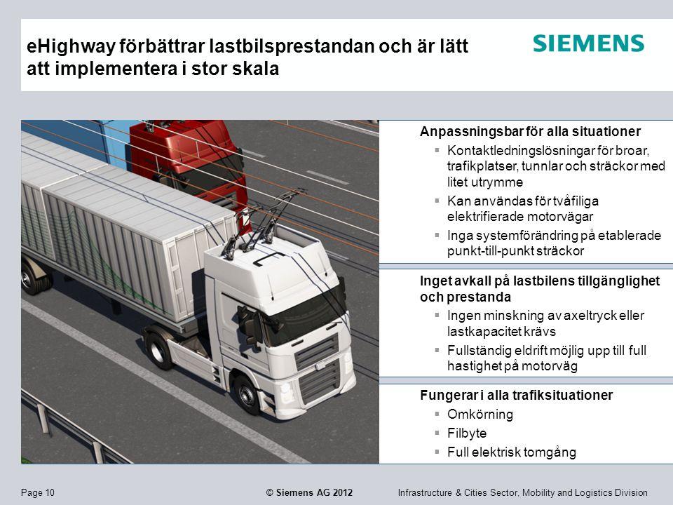 eHighway förbättrar lastbilsprestandan och är lätt att implementera i stor skala