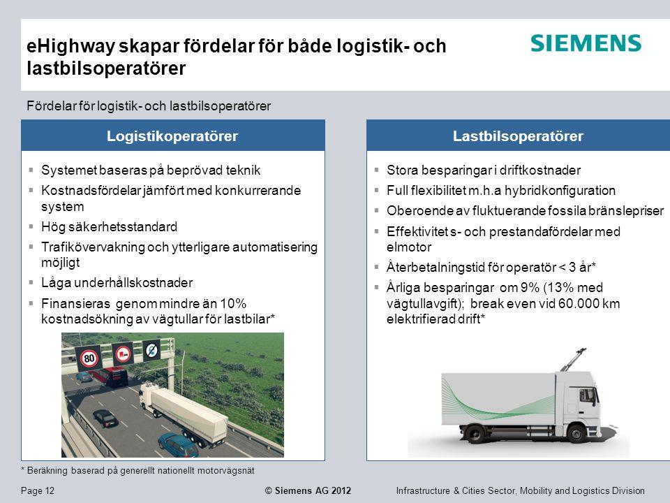eHighway skapar fördelar för både logistik- och lastbilsoperatörer