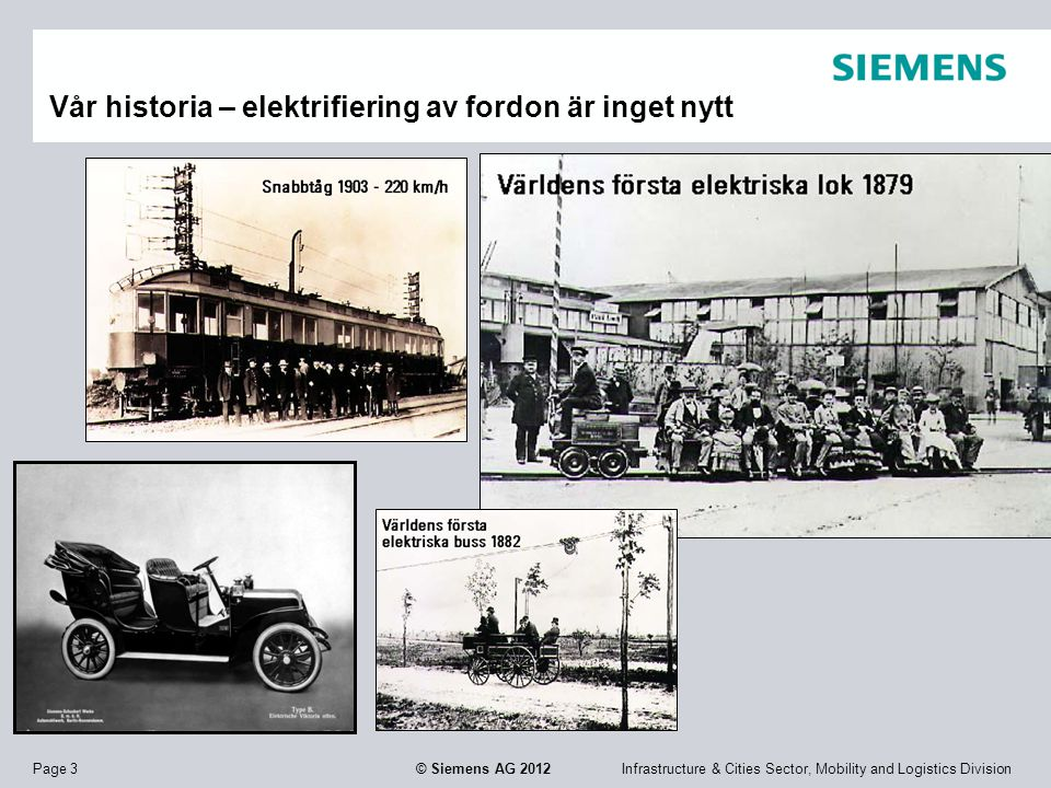 Vår historia – elektrifiering av fordon är inget nytt