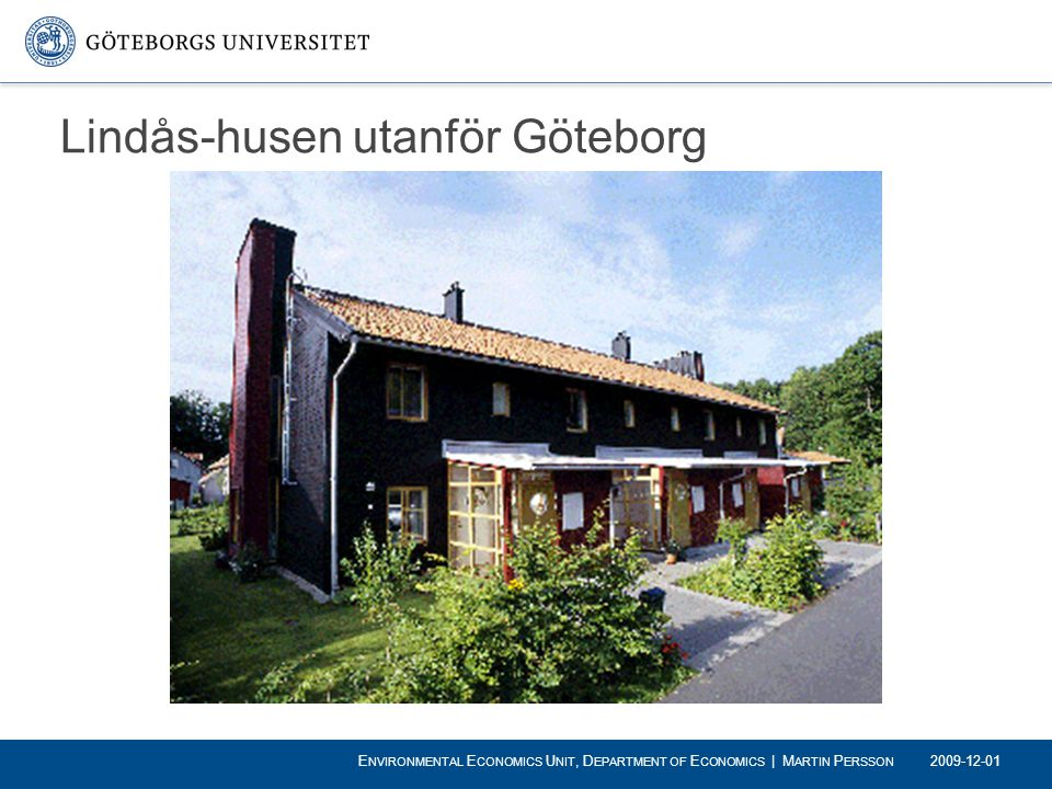 Lindås-husen utanför Göteborg