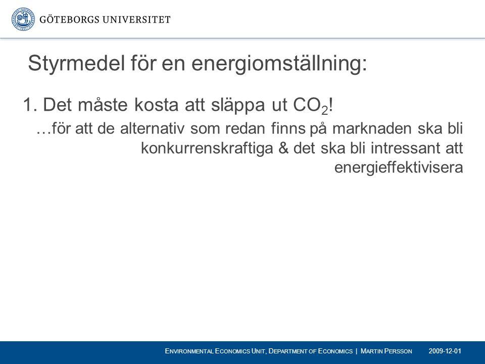 Styrmedel för en energiomställning: