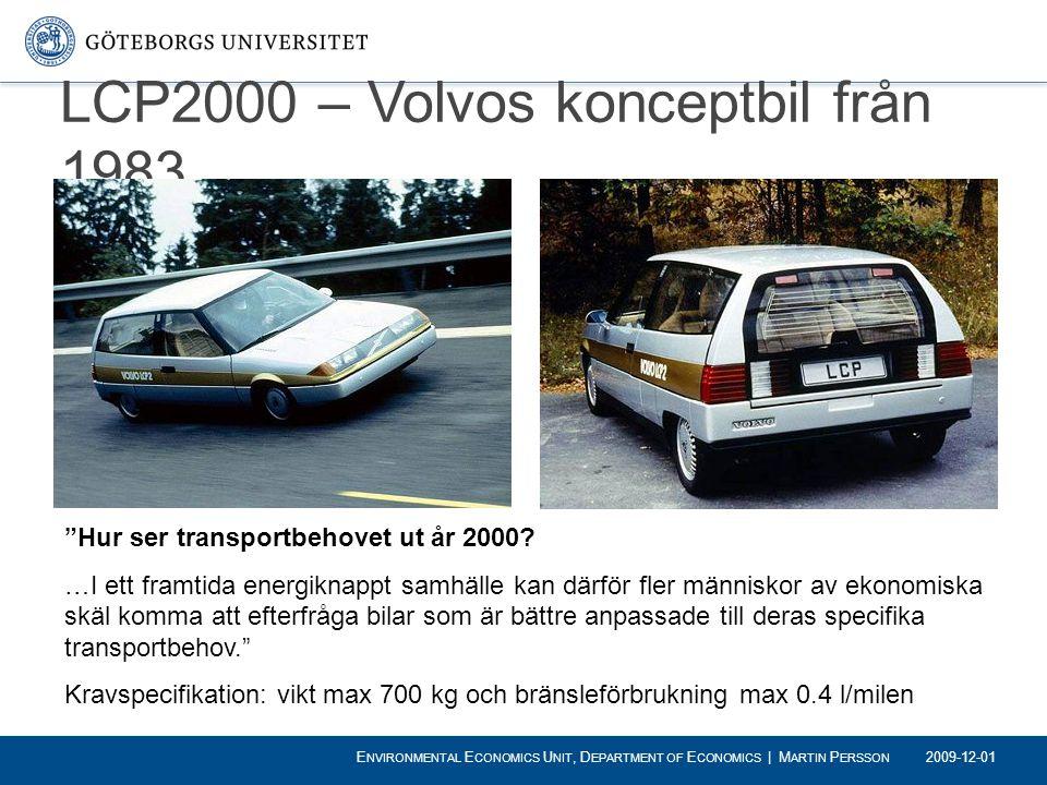 LCP2000 – Volvos konceptbil från 1983