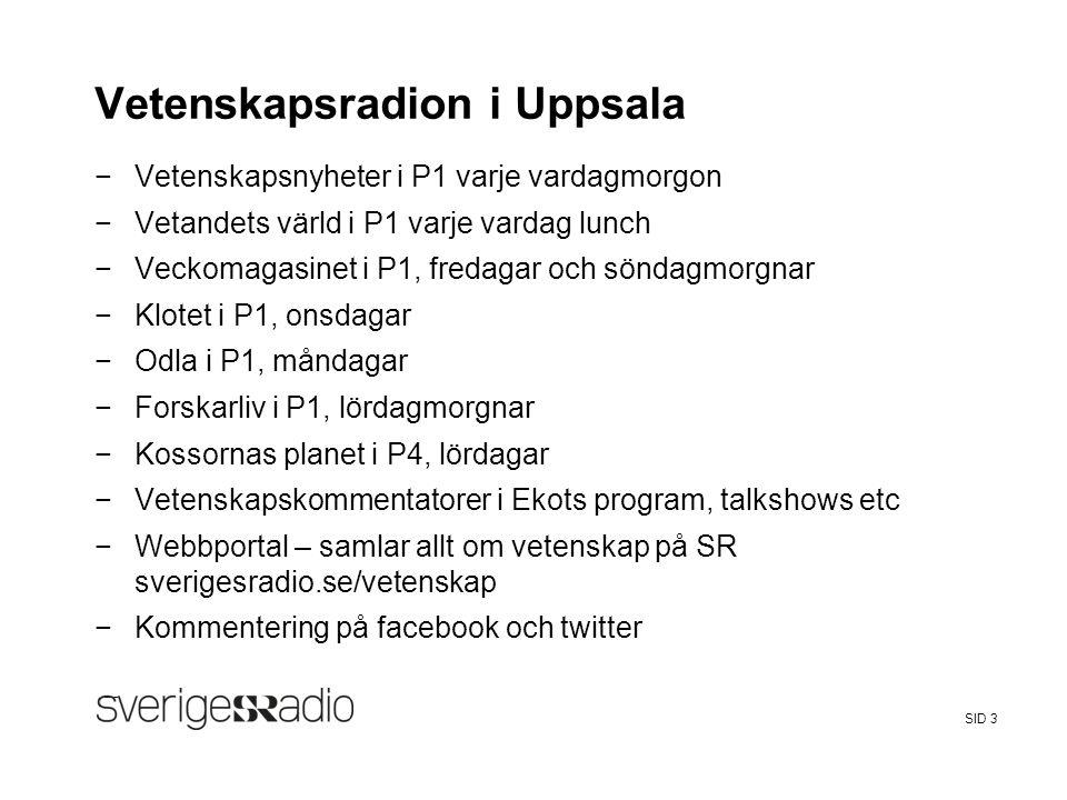 Vetenskapsradion i Uppsala