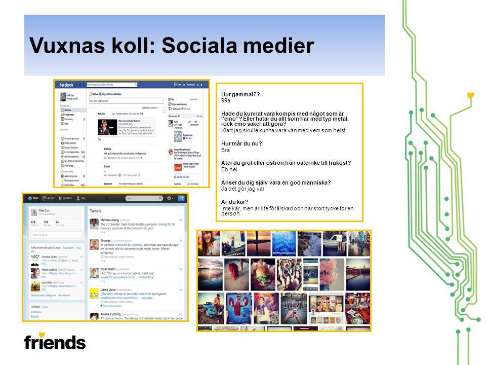 Vuxnas koll: Sociala medier