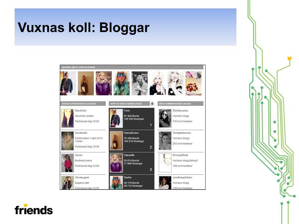 Vuxnas koll: Bloggar