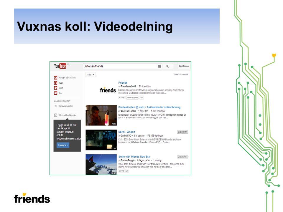 Vuxnas koll: Videodelning